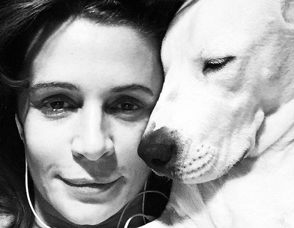 Оксана Фандера с собакой