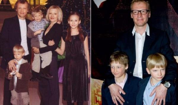 Алексей Серебряков с семьей женой и детьми фото