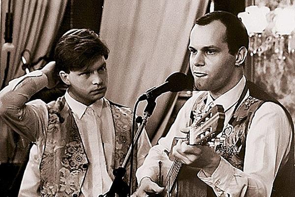 Молодые Валдис Пельш и Алексей Кортнев фото