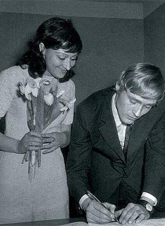 Борис Щербаков с женой Татьяной Бронзовой в молодости фото