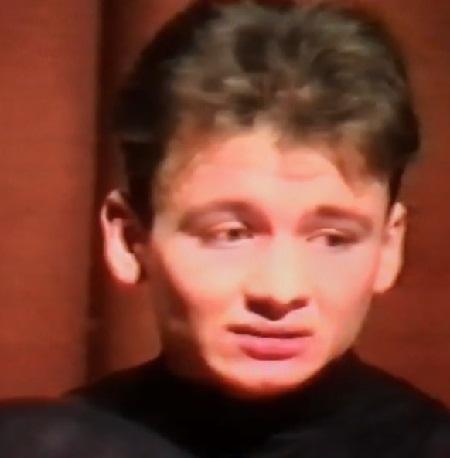 Александр Олешко в молодости. 1995 год. Первый курс Щукинского училища.