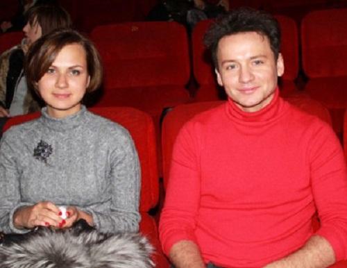 Александр Олешко с женой Ольгой Беловой фото