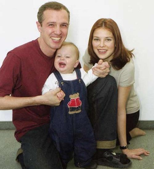 Игорь Верник с женой Марией и сыном