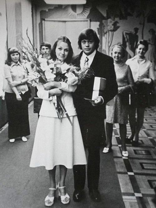 Николай Караченцов с женой Людмилой Поргиной в молодости
