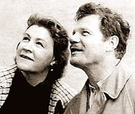 Михаил Пуговкин со второй женой