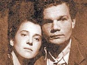 Михаил Пуговкин с первой женой Надеждой Надеждиной