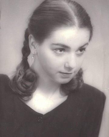 Ольга Будина в юности
