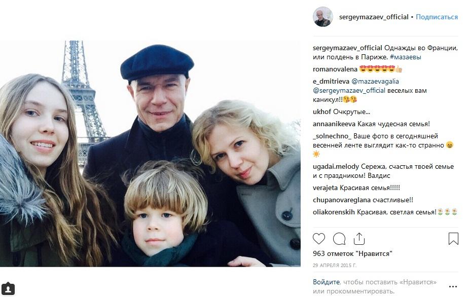Сергей Мазаев с женой и детьми фото