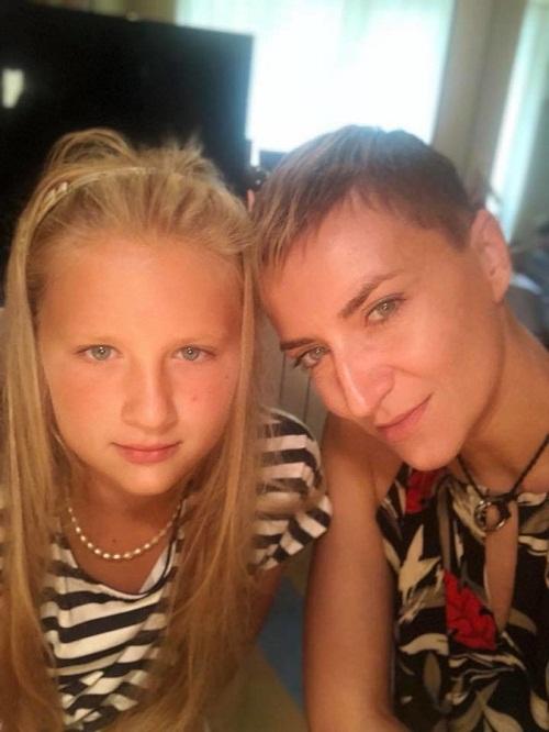 Ксения Бик с дочерью